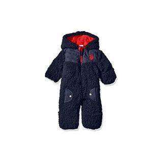 U.s. Polo Assn. Baby Boys Soft Whubby Shell Pram, Azul Marin
