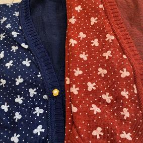Blusa De Frio Cardigan Tricô Estampada Laço Feminina