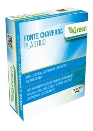 Fonte Chaveada Green 12v 1a Plugue 5,5mm X 2,1 Mm