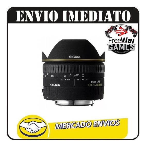 Lente Sigma Dg 15mm F2.8 Fisheye + Nota Fiscal + Garantia