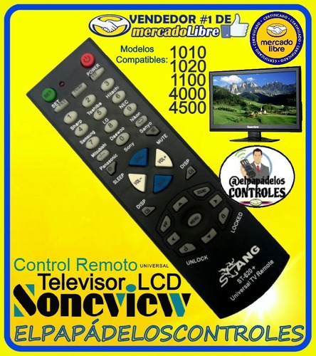 Control Remoto Tv Soneview Lcd Led 4500 4000 1010 1020 1100.