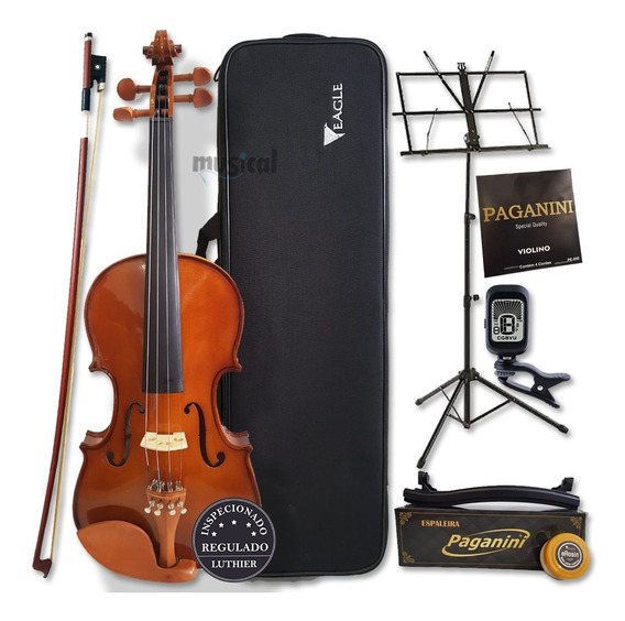 Violino Eagle 4/4 Ve441 Com Kit Completo + Corda Paganini