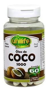 Óleo De Coco 60 Cápsulas Unilife