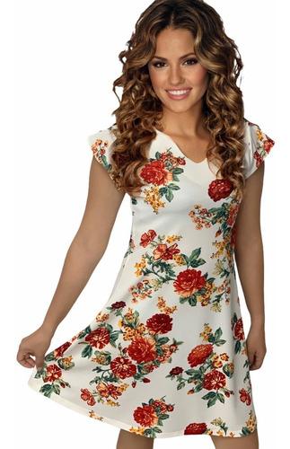 Vestido Formal Moderno Hermoso Estampado Floreado