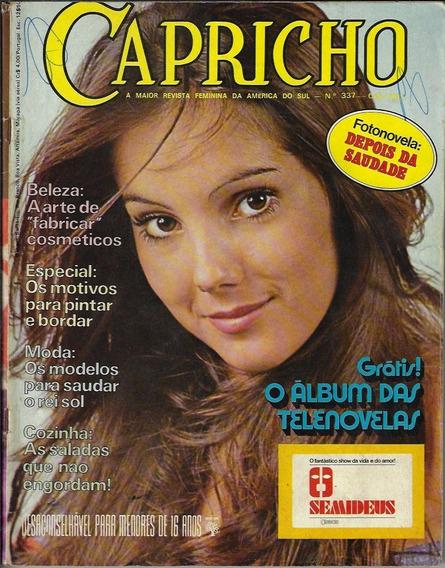 1973 Revista Capricho Nº 337 Editora Abril Fotonovela