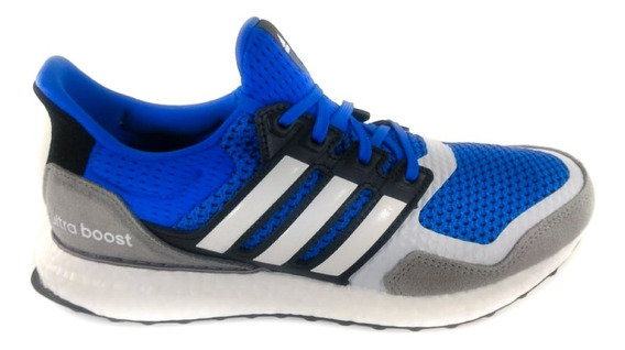 Tênis adidas Ultraboost Masculino Azul/cinza/branco