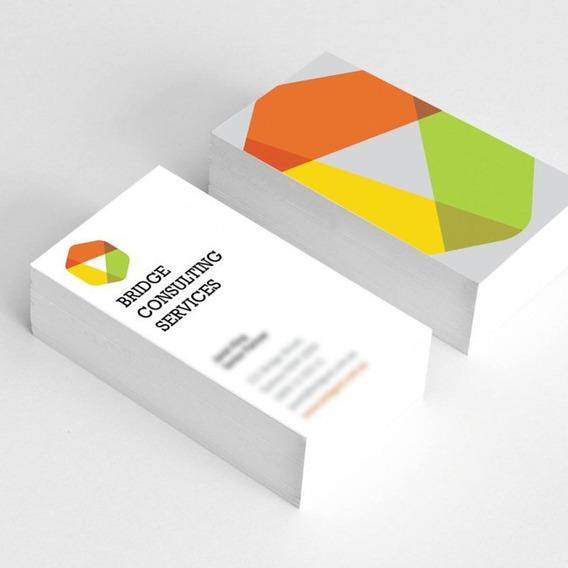 1000 Tarjetas Presentación Todo Color Y Uv Por Ambos Lados