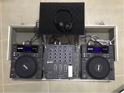 Dj Mixer Gemini Ps3 Usb + 2 Controladores Dj Cdj -250