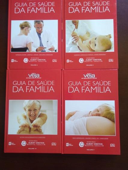 Guia Veja De Medicina E Saúde,09 Volumes Abril Coleções/2008