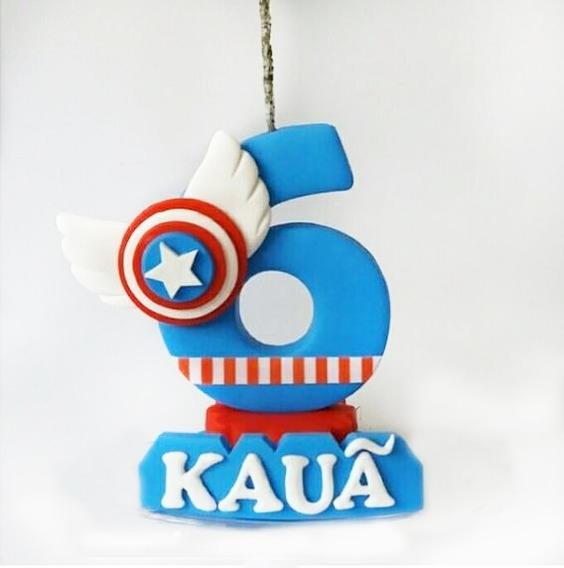 Vela Capitán América Regalo Original Personalizado