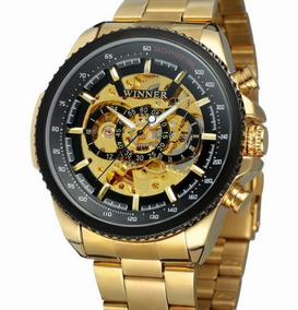 Relógio Winner Tm428 Skeleton Mecanico