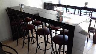 Mobiliario Restaurante - Barras Con 8 Bancos
