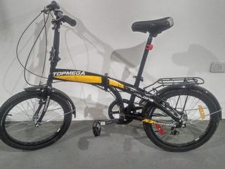 Bicicleta Pleg Folding R20 Topmega - Shimano 7v Reales