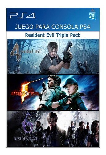 Resident Evil Triple Pack  Ps4 | Estación Play