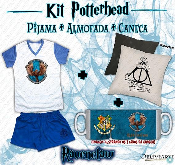 Kit Pijama Feminino + Almofada + Caneca Harry Potter
