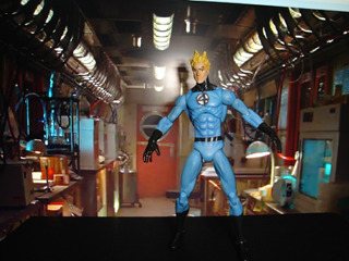 Ohnny Storm Marvel Universe Human Torch Light Blue Outfit