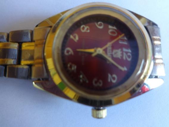 Relógio De Pulso Aço Inoxidável Prateado C/ Dourado Orimet