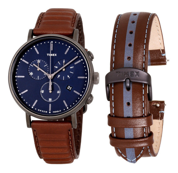 Relógio Masculino Timex Twg016800 Pulseira De Couro