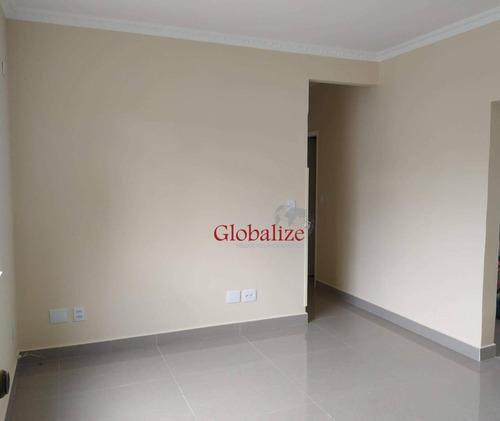 Apartamento Com 3 Dormitórios À Venda, 92 M² Por R$ 380.000,00 - Campo Grande - Santos/sp - Ap0735