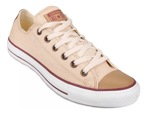 Zapatilla Converse All Star Baja Lino Natural Original