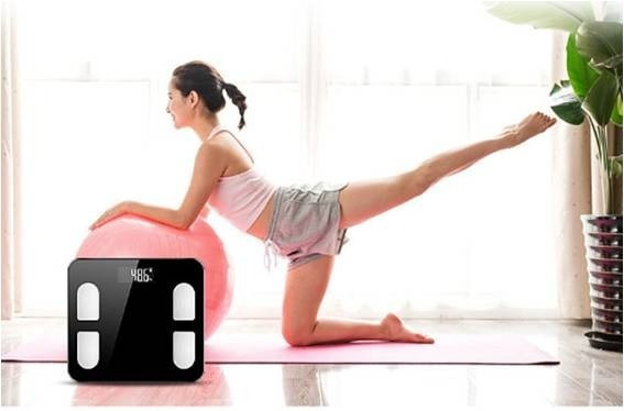 Báscula Digital Bluetooth Peso, Calorías, Grasa, Músculo