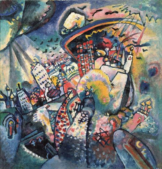 Cuadro Lamina Fine Art Kandinsky Moscow Red Square 60 X 63