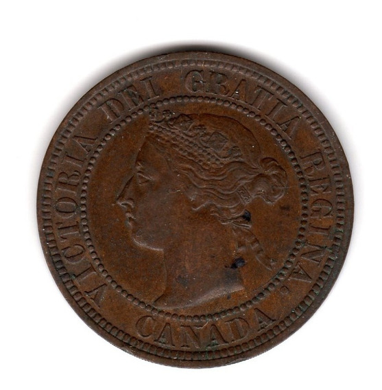 Bkz / Canadá - 1 Cent 1882 H Cobre