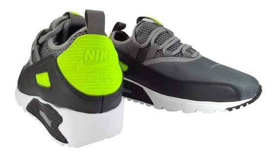 Zapatos Nike Airmax 90 Two Gris Verde Damas Y Caballeros..