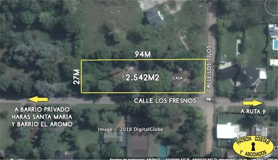 2189ro-terreno En Loma Verde Escobar 2500m2 Con 95m Sobre