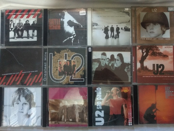 Lote 12 Cds U2 - Rock Internacional Pop Raros Blood Rattle