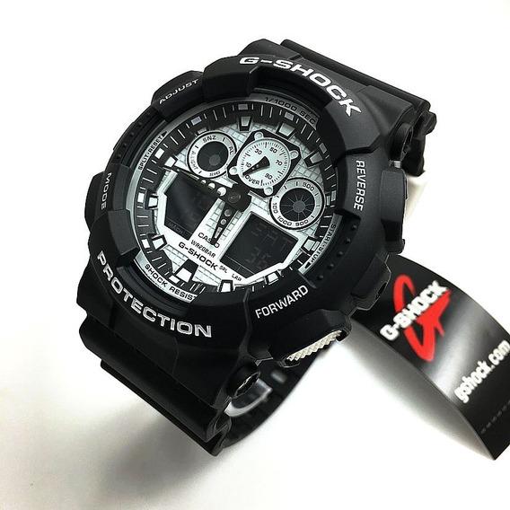 Relógio G-shock Protection Ga100bw-1a Ler A Descrição