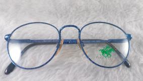 Óculos Grau Metal #retrô #redondo, Polo Club, 25r