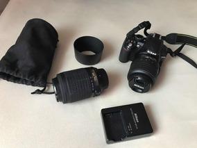 Câmera Nikon D3100 4500 Clics 2 Lentes Carreg