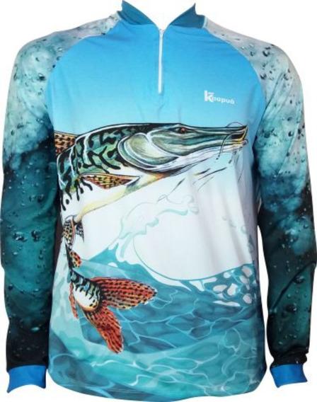 Camisa De Pesca Proteção Uv 50+ Kaapuã Infantil (criança)