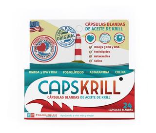 Capskrill X 24 Cápsulas Blandas - Aceite De Krill Omega 3