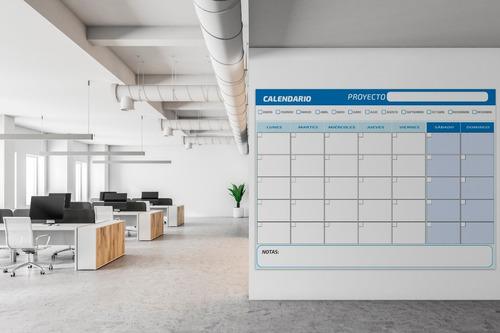 Planificador Mensual- 90x120 Cms Editable Sobre Foam De 5 Mm