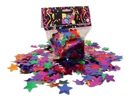 Papel Confetti Forma Estrellas Multicolor Feliz Cumpleaños