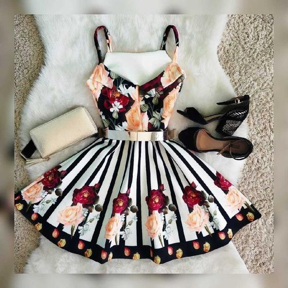 Vestido Boneca Rodado Princesa Moda Roupas Femininas
