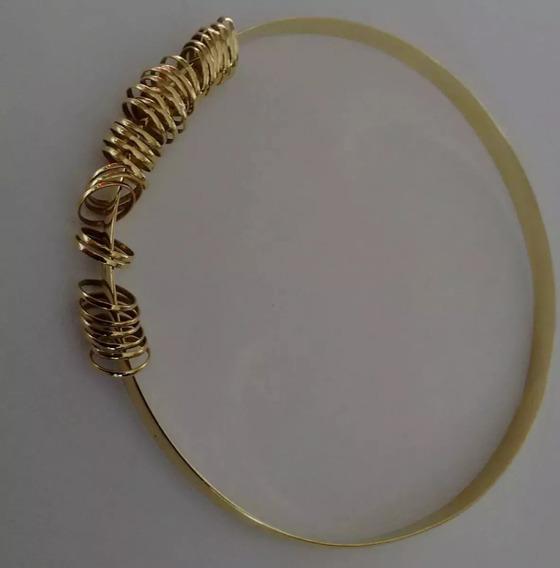 Bracelete Ouro 18k-75 10,05 Gr 5 M De Largura 38 Argolinhas