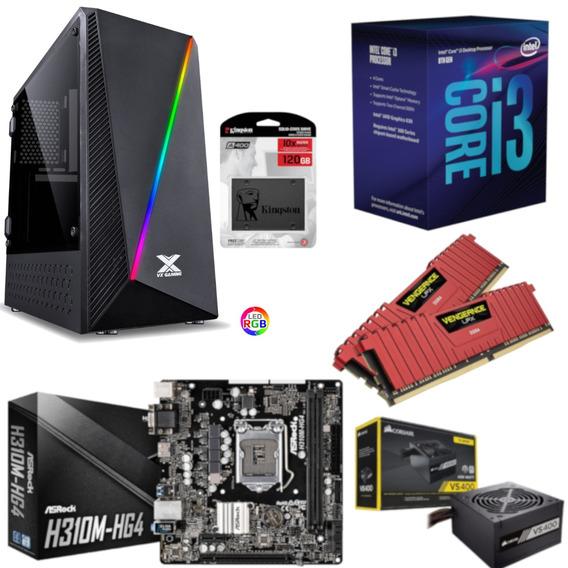 Pc Pyxis Intel I3 8100 H310m Hg4 Vg 16gb Vs400 Ssd 120gb