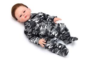 Macacão Bebê Menino Camuflado
