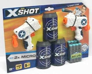 X-shot Excel Pistola X 2 Dardos Y Tachos 24 Mts Cod 01160