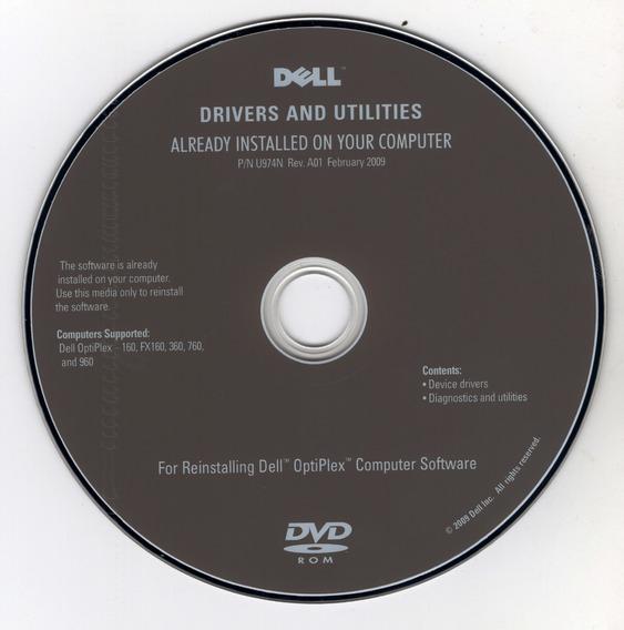 Cd De Drivers And Utilities Dell ( Drivers E Utilitários)