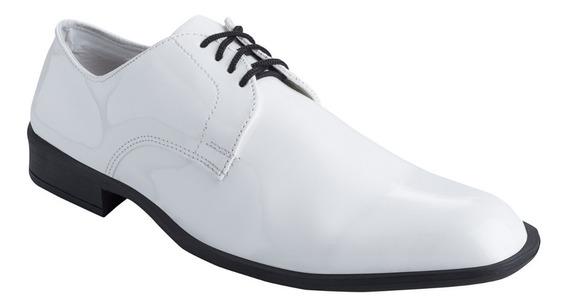 Zapatos De Vestir Cuero Autobrillo Hombre Charol Fiesta Moda