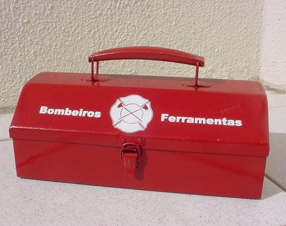 Antiga - Maleta De Chapa - Bombeiros Ferramentas !!!