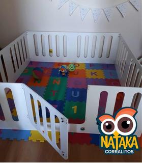 Corralito De Madera Para Bebes Ideal Mellizos. - 200x200