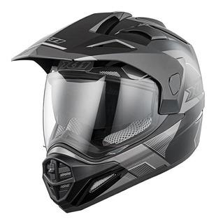 Capacete para moto cross X11 Crossover X3 preto/cinza tamanho 62