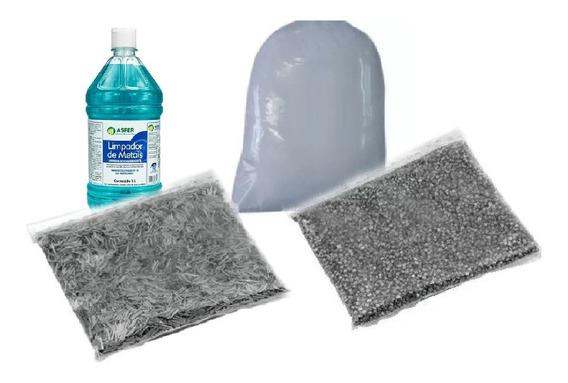 Kit Palitos, Lentilha Aço Inox Polimento Shampoo E Pó B5....