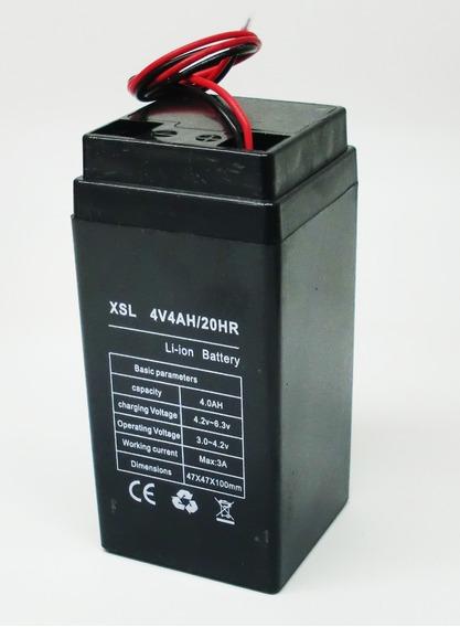 2 Bateria Lítio Multiuso 4v 4ah Balança Brinquedo Automação