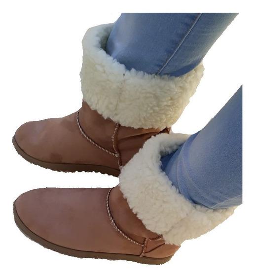 Bota Feminina Tipo Ugg Preta Bege Pelo Toda Forrada Com Lã